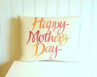 Happy Mothers day pillow | Mothers gift | Farmhouse Decor | Happy mother's day | Rustic | Mom | Spring Pillow
