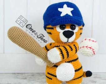 "Riley the Little Tiger ""Little Explorer Series"" Amigurumi - PDF Crochet Pattern - Instant Download - Amigurumi Cuddy Stuff"