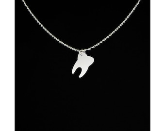 Tooth Necklace - Tooth Jewelry - Tooth Gift - Human Tooth Jewelry - Human Tooth Necklace