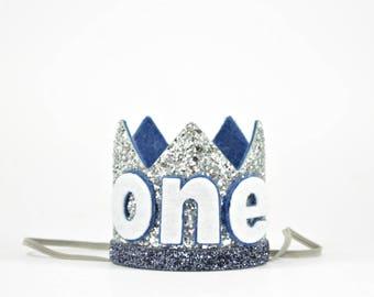 First Birthday Boy Crown | Birthday Boy Crown | Birthday Crown Boy | Boy Birthday Outfit | Boy Birthday Hat | 1st Birthday Hat | Silver