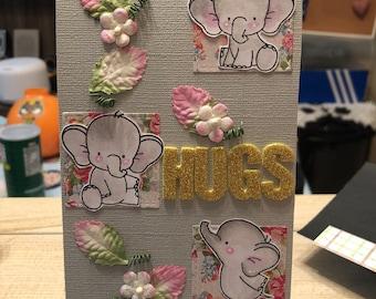 Handmade card - Hugs and kisses