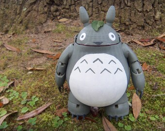 3D printed Totoro BJD