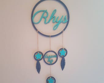 Personlised Dream Catcher, Dream Big, Sweet Dreams, Childrens Gift, Nursery Decor, Bedroom accessories