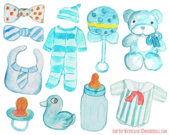 Watercolor Clipart   Watercolor Clip Art   Boy Baby Shower Clipart From  Wonderdigi On Etsy Studio