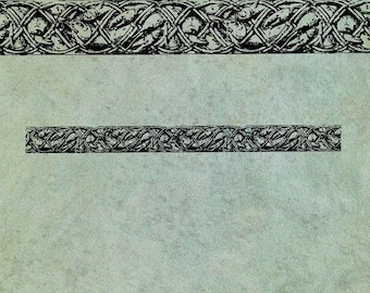 Game & Seafood Border - Antique Style Clear Stamp