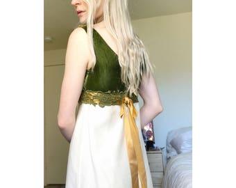 VTG 60's Elven Velvet & Lace Party Dress