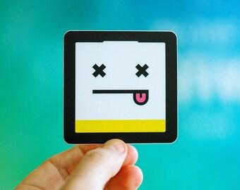 Battery Sticker, Dead Battery Sticker, Full Battery Sticker, iPhone Battery Stickers, Exhausted Battery, Cool Battery Sticker, Knackered