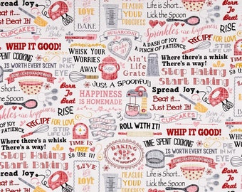 """Valance or Panel New WHIP IT GOOD Print  Cotton 40 x 12"""" 14"""" 18"""" 24"""" or 32"""" Lined or unlined"""