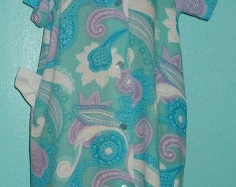 "60s Vintage Mod Flower Power ""Lounge Craft"" Ladies House Dress, Like New — Size Large/12-14"