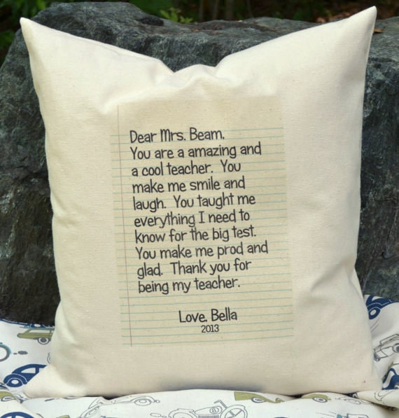 Personalized pillow teacher gift letter pillow grandparent spiritdancerdesigns Images