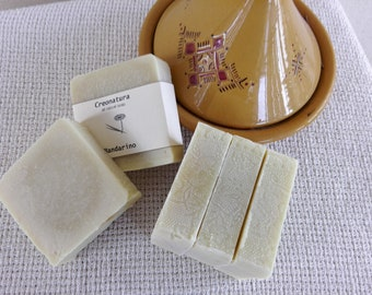 Natural Tangerine Soap, handmade soap, hand made soap, all natural soap, organic soap