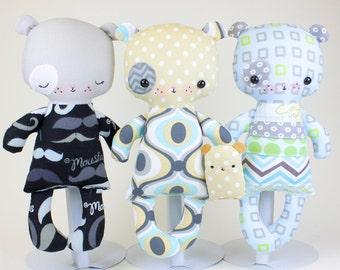 SALE Puppy Baby Doll PDF Pattern