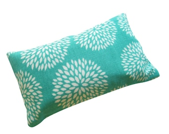 Teal Floral Pincushion filled with Emery Sand