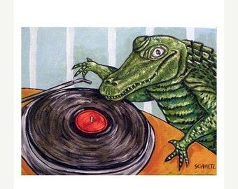 25% off Alligator DJ Art Print