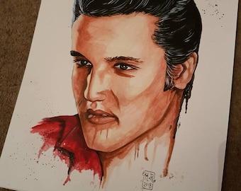 Origunal Elvis Presley painting