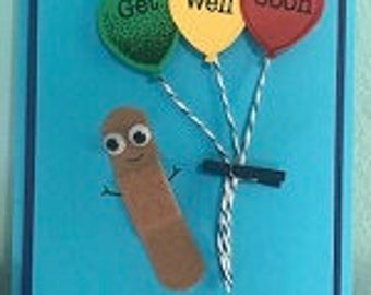 Band Aid Get Well Greeting Card