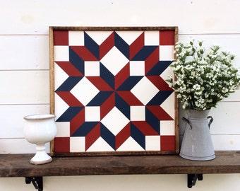 Carpenters Wheel Barn Quilt Quilt Block Quilt Square custom colors available