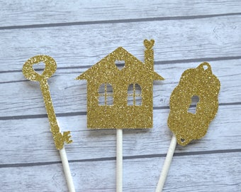 Housewarming Cupcake Toppers, House Warming Cupcake Toppers, Housewarming Party, Home Sweet Home Party, New Home, Home Warming Party