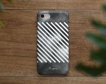 iPhone X Case, iPhone 8 Plus Case, iPhone 7 Case, iPhone 6 Case, iPhone 8 Case, iPhone 7 Plus the cloudy sky white stripe iphone case