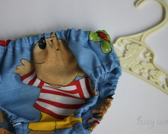 Baby Bloomers - Nappy or Diaper Cover. Handmade using vintage fabric. 0-3 months. Teddy Bears.