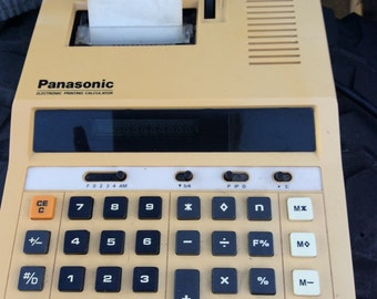 Panasonic Electronic Printing Calculator made in Japan, late 70s vintage