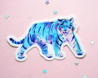 Blue Tiger Vinyl Sticker
