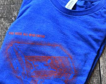 Allen Fieldhouse - Kansas Jayhawks - KU - Stipple Drawing Tee - Kansas Jayhawks Shirt