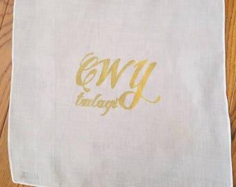 Cherokee Tsalagi Handkerchief/Prayer Cloth - Gold