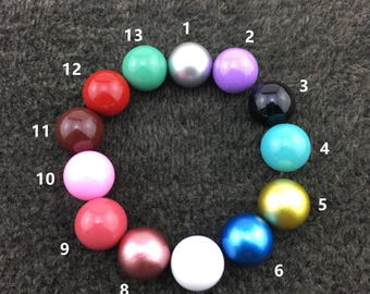 5 PCS 12mm Round Chime Ball, Harmony Ball Mexico Bola Chime Beads Pendant ,Angel Caller Balls for Pregnancy Mom QY001