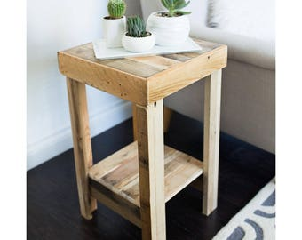 beautiful reclaimed wood nightstand end accent entry side table night stand