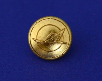 Vintage Flying Goose Canadian Pacific Airlines Brass Uniform Buttons - Collection of 10 Shank Buttons-W. Scully LTD Montreal-Uniform Buttons