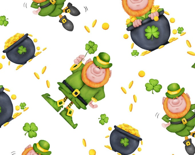 Lucky Me  100% Cotton fabric, sold by the yard  #515