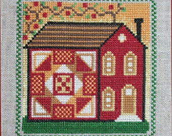 Cross Stitch Chart Quilt and Vine House 1 Quilty Neighborhood PDF Pattern FAAP