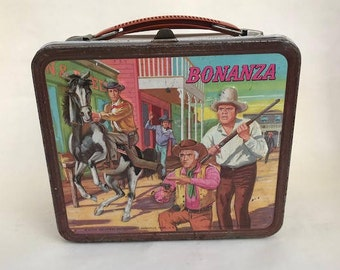 Bonanza Lunch Box 1965 Bonanza Western Lunchbox