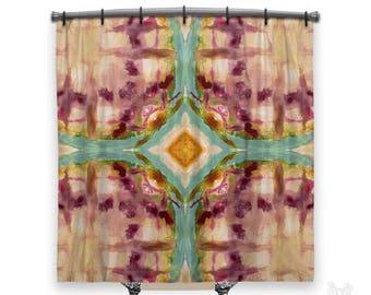 Artsy, BOHO Shower Curtain, Shower curtain, Bohemian shower curtain, Tie Dye shower curtain, Fabric shower curtain, Boho decor, hippie decor