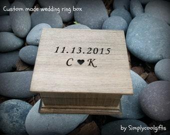 wedding, wedding ring box, ring box, ring pillow, ring bearer pillow box, custom ring box, wooden ring box, wedding gift