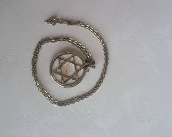 Jerusalem stone pendant and chain necklace.