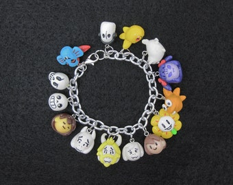 Custom Choose Your Characters Undertale Video Game Charm Bracelet 14 Charms