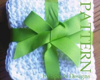 PDF Easy Crochet Dishcloth Pattern