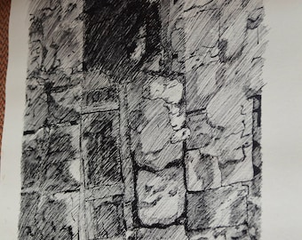 Bethlehem Old Town 3 - Ink Drawing
