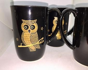 Owl Mug Set Vintage