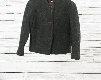 Vintage wool cardigan / Wool cardigan / Vintage wool sweater / Women cardigan