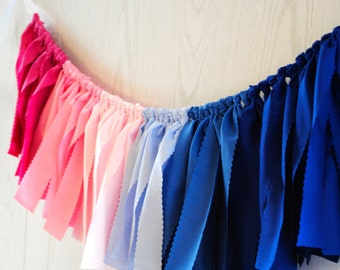 Gender Reveal Fabric Bunting - FREE Shipping - Gender Reveal Bunting - Gender Reveal Garland - Gender Reveal Banner - Gender Reveal Party