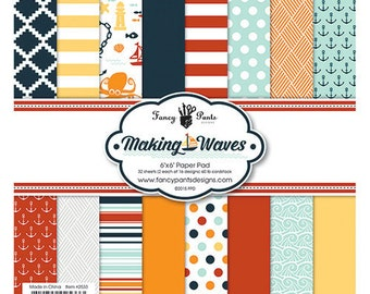 Fancy Pants - Making Waves Collection - 6 x 6 Paper Pad