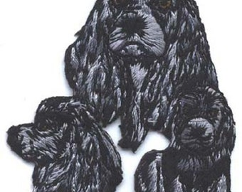 Embroidered COCKER SPANIEL Dog Breed Iron-on/Sew on Patch Badge Applique DIY....choose blonde or black