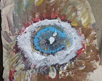 Baby eagle eye