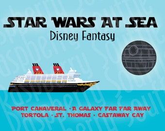 Disney Fantasy Star Wars at Sea Eastern Caribbean Cruise Magnet 5x7 Download