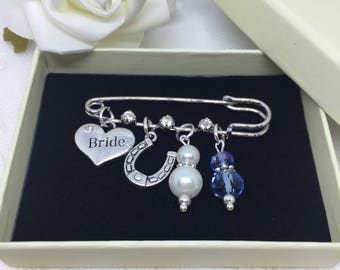Something old, something New, wedding gift, Bride Charm, Something Borrowed, Something Blue, Bridal Pin, gift for a bride, Bridal shower