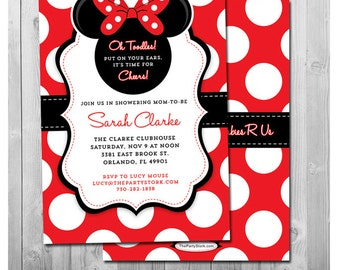 Minnie Mouse Baby Shower Party Package Printable Baby Girl