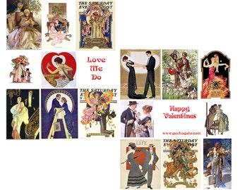 Love Me Do Digital Collage Set